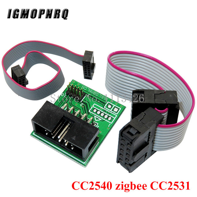CC2531 Zigbee Emulator CC-Debugger USB Programmer CC2540 CC2531 Sniffer with antenna Bluetooth Module Connector Downloader Cable 4