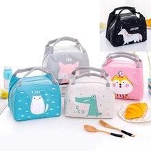 Теплоизоляционная сумка для детского питания, бутылки с молоком, изоляционные сумки для хранения, водонепроницаемая сумка для ланча из ткани Оксфорд, сумка для еды для младенцев и детей, Сумка с рисунком лисы