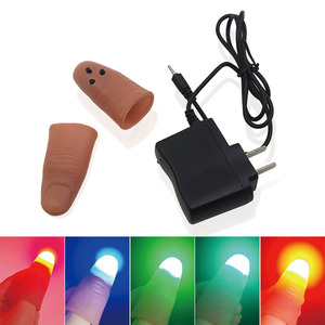 LED Finger Light Magic Thumb Trick For Beginners Performers Over 2020 New Arrival - 5-Color US Plug