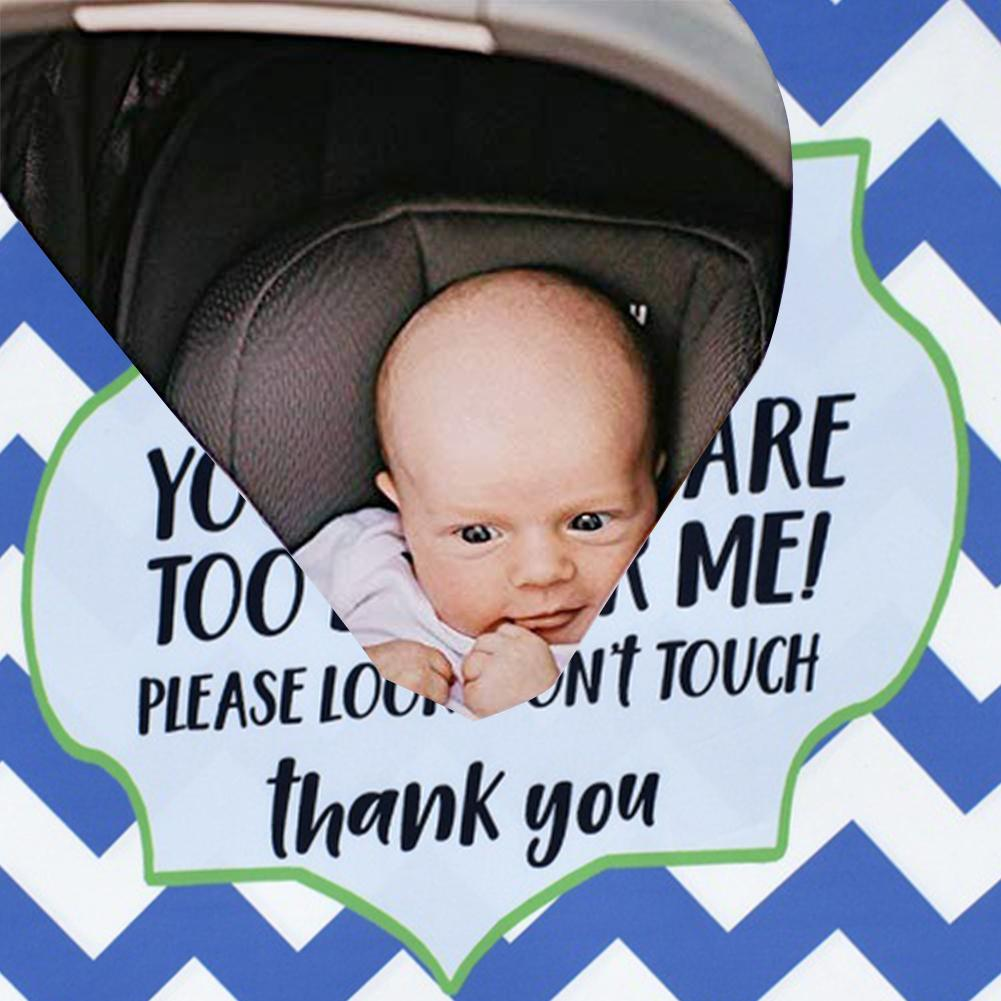 Baby Car Seat Cover with Safety Warning No Touching Sign Scarf Nursing Covers for Stroller High Chair Shopping Cart