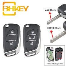 BHKEY CE0523 умный Автомобильный ключ для Peugeot 307 407 607 2005-2011 Автомобильный Дистанционный ключ HU83/VA2 Blade 2/3 кнопки 433 МГц ASK