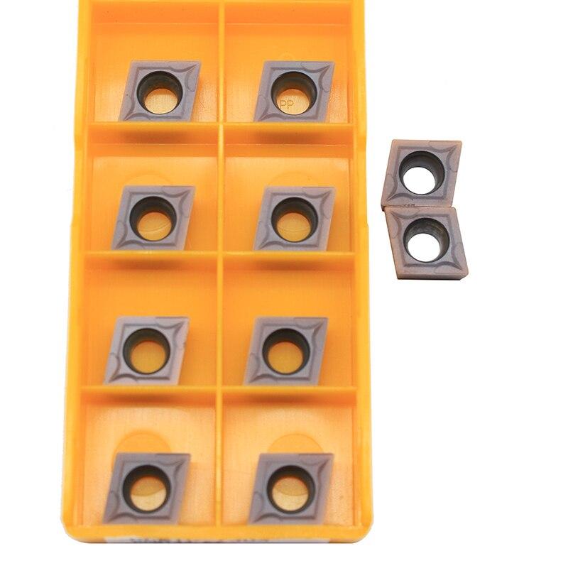 10PCS CCMT09T308 VP15TF UE6020 US735 CNC Carbide Inserts Cutting Tool Internal Turning Tool Tools Lathe Tools Lathe Cutter