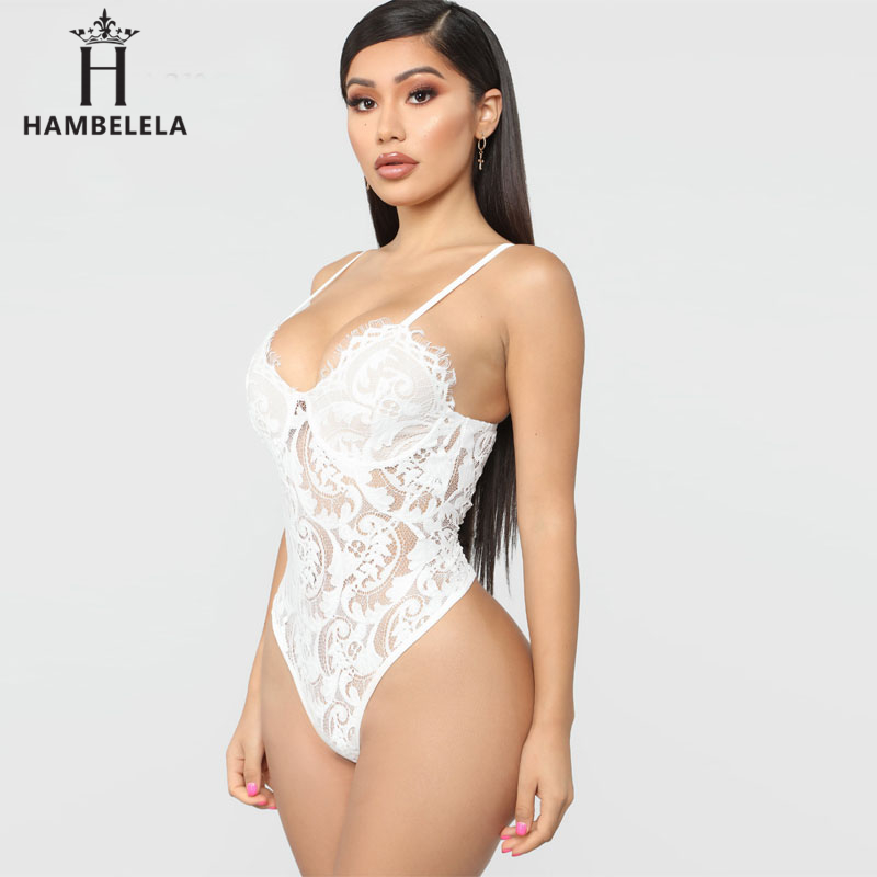 HAMBELELA Skinny Party Club Bodysuit Top Floral Lace Bodysuits Women Erotic Bodycon Overalls Hollow Out Sexy Slim Bodysuits (3)
