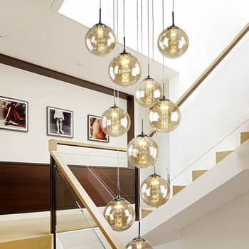 LED Crystal Chandelier Lighting Large Hanging Lights Orb Cristal Lamps for Living Dining Room Staircase Hotel Decoration Wy11506