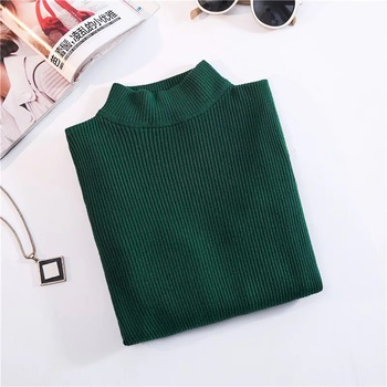Marwin New-coming Autumn Winter Turtleneck Pullovers Sweaters Primer shirt long sleeve Short Korean Slim-fit tight sweater 13