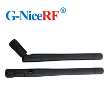 5 pçs/lote SW433 ZD115 433 mhz ganho 2.15 dbi dobrável antena de borracha com macho sma cabeça para módulo sem fio