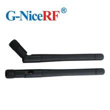 5 teile/los SW433 ZD115 433MHz Verstärkung 2,15 dBi Klapp Gummi Antenne mit Männlichen SMA kopf für wireless modul