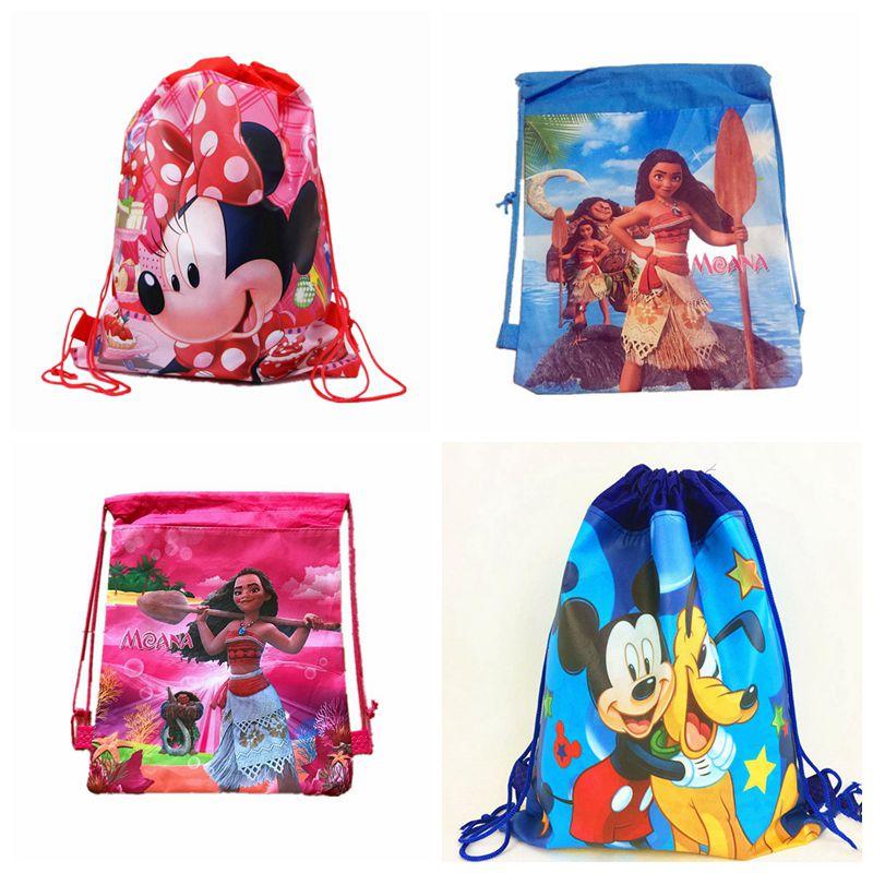 Dinosaur Non-woven Bag Backpack Kids Travel School Decor Drawstring Gift Bags JP
