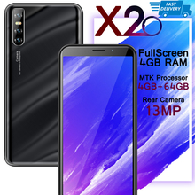 Smartphones X20 13MP 4GB RAM 64GB ROM 6 0inch Full Screen Face unlocked Mobile Phone Android Cellphones Celulares cheap BYLYND Detachable Face Recognition Up To 48 Hours 3000 Adaptive Fast Charge Smart Phones Capacitive Screen English Russian