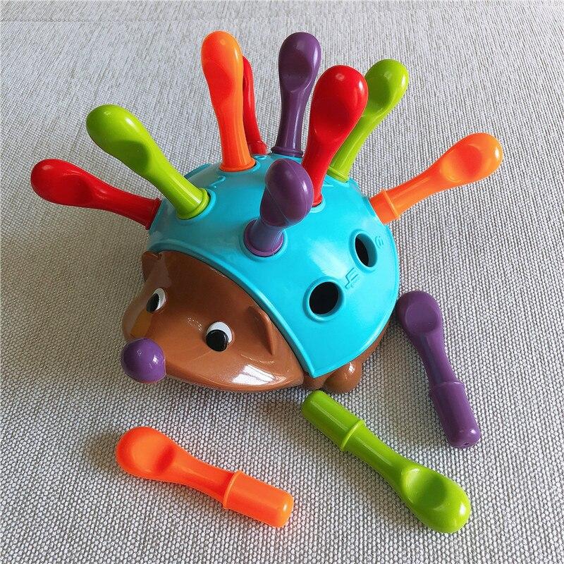 Brinquedos do bebê 13 -24 meses correspondência classificador brinquedo ouriço classificador brinquedo crianças empilhando brinquedos criança montessori brinquedo jogo interativo presente