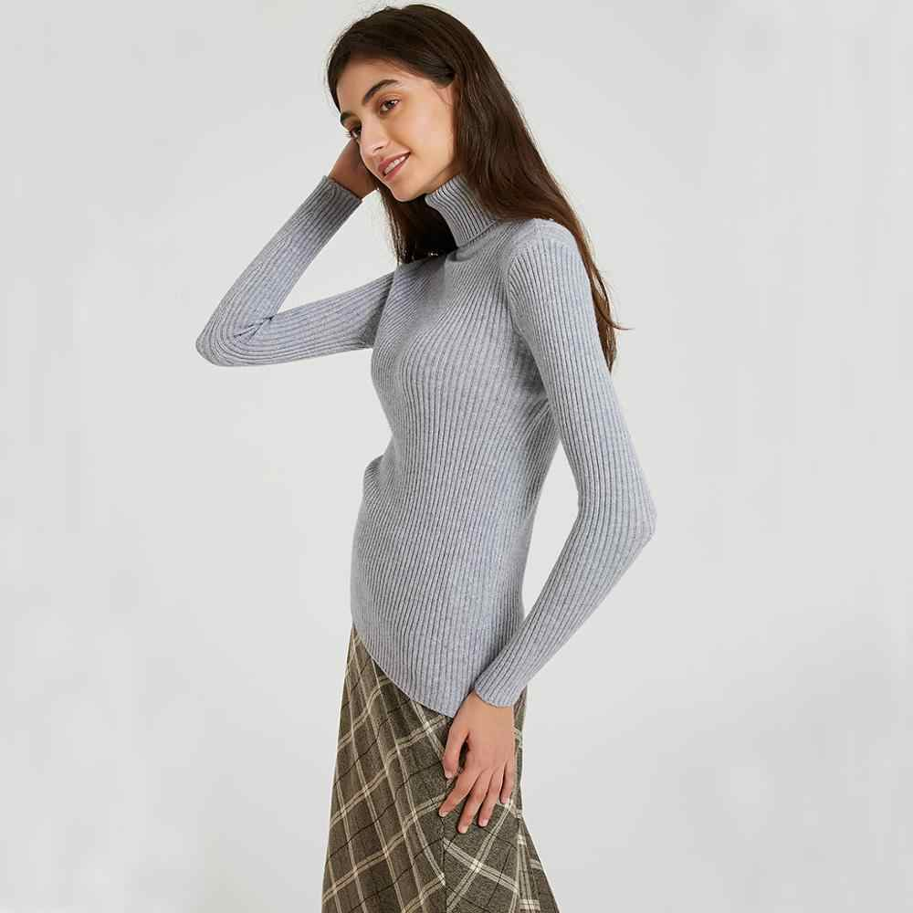 Wixra ผู้หญิงถักเสื้อกันหนาวและ Pullovers ฤดูใบไม้ร่วงฤดูหนาวฤดูหนาว Basic ดึง BlackBerry Tops สตรีเสื้อผ้า