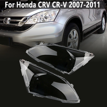Pair Front Headlight glass transparent lampshade PC lampshade Anti cracking lens shell for Honda CRV 2007 2008 2009 2010 2011 transparent lampshade lamp shade front headlight shell pc mask for kia k4
