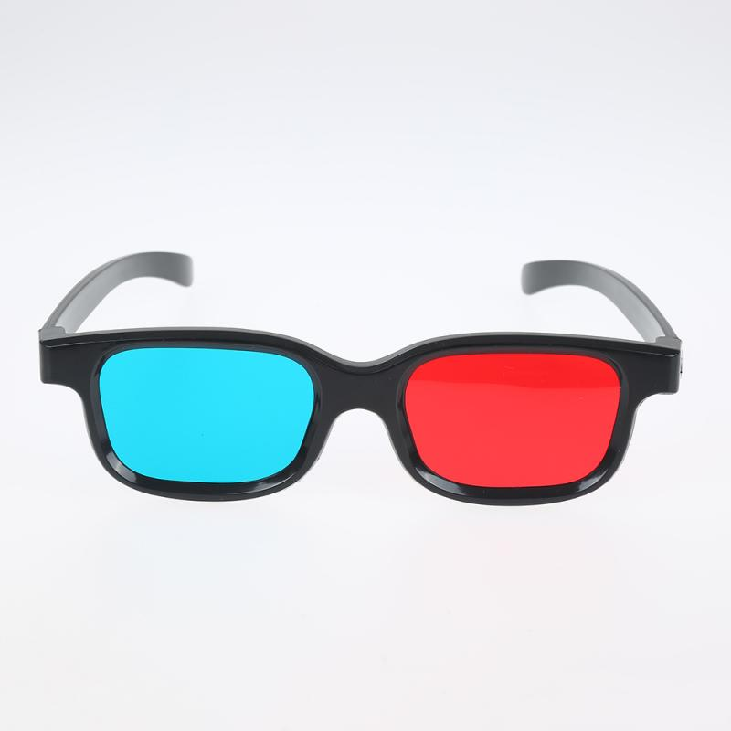1pcs Frame Red Blue 3D Glasses For Dimensional Anaglyph Movie Game DVD Black