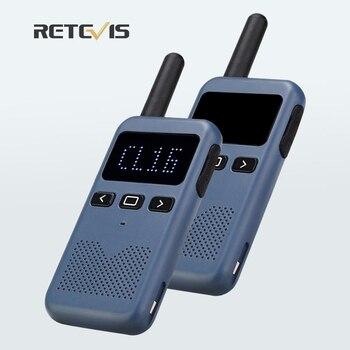 Mini Walkie Talkie Retevis RB619 PMR 446 Radio Station Walkie-Talkies 2 pcs Two-way Portable radio for hunting  restaurant - discount item  40% OFF Walkie Talkie