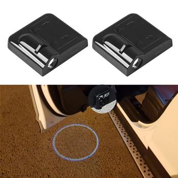 Samochód lampka drzwi dla Peugeot 205 206 207 307 208 2008 307 308 3008 407 408 508 5008 301 106 107 Led godło projektor witamy światła tanie i dobre opinie CN (pochodzenie) Witamy Światło 30cm Car Led Light For Peugeot Decoration Accessories Car Door Light Decor For Peugeot
