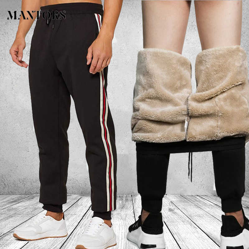 Winter Pants Men Thick Sweatpants 2019 Plush Trousers Mens Fashion Joggers pantalon homme Harem Pants Man Sportswear Warm Pants