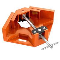 Right Angle Clamp  Single Handle 90°Corner Clamp  Aluminum Alloy Right Angle Clip Clamp Tool Woodworking Photo Frame Vise Holder