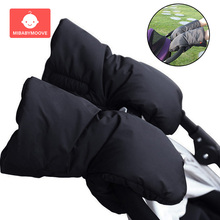 warm baby winter stroller gloves cotton thickened baby stroller hand cover waterproof kids baby pushchair buggy pram accessories