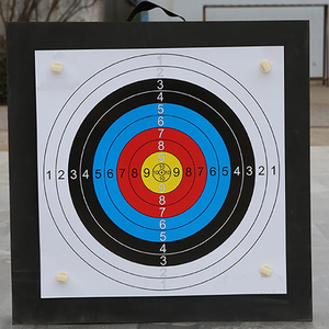 Image 2 - Archery Shooting Target Set 50 * 50 * 5cm EVA Foam Target With Target Papers Nails Outdoor Sports Hunting Archery Accessories