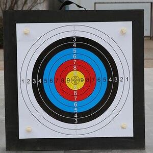 Image 2 - Tir à larc cible de tir ensemble 50*50*5cm EVA mousse cible avec cible papiers ongles Sports de plein air chasse tir à larc accessoires