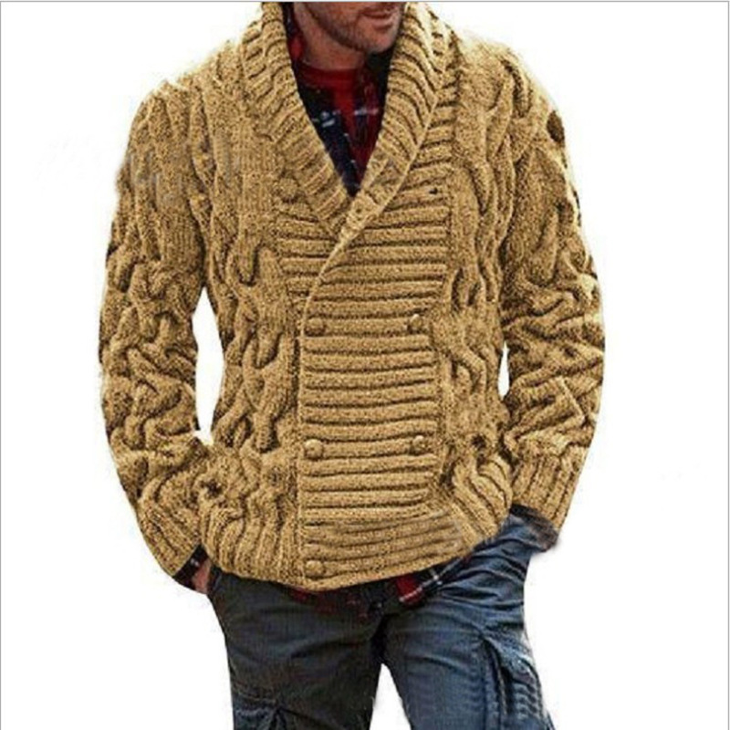 Long Sleeve Turtleneck Turtleneck Solid Color Regular Sweater Knit Lapel Men Winter Spring Fashion Brand Slim New Men's Clothes