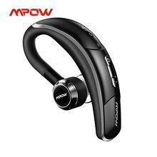Mpow bh028a bluetooth fone de ouvido sem fio bluetooth handsfree chamando earbud com reprodução 6hrs para o motorista do carro de negócios