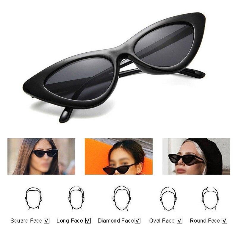 Spedizione gratuita moda donna Cat Eye occhiali da donna Vintage retrò piccola femmina carino tendenza occhiali da sole UV ombra Zonnebril Dames 2