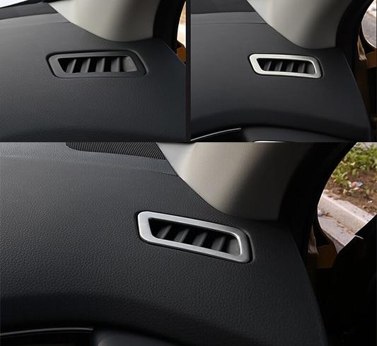 NISSAN QASHQAI X-TRAIL 2014 2015 2016 CHROME DASHBOARD AIR VENT TRIM - Avtomobil ehtiyat hissələri - Fotoqrafiya 2