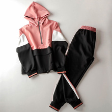 Autumn Womens Two Piece Sets 2018 Hoodie Pink Outfit Meow Set Pants Women Streetwear Fashion Sweatsuits For