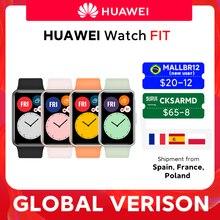 20$ -12 off CODE: MALLBR12 for New user Em estoque versão global relógio huawei ajuste smartwatch animações de treino rápido oxigênio no sangue relógio apto 10 dias de vida da bateria relógio f