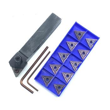 Soporte de herramientas de torneado de torno de 2 piezas (16x100mm) para llave TNMG 4 + 2 barras de perforación kit inserto