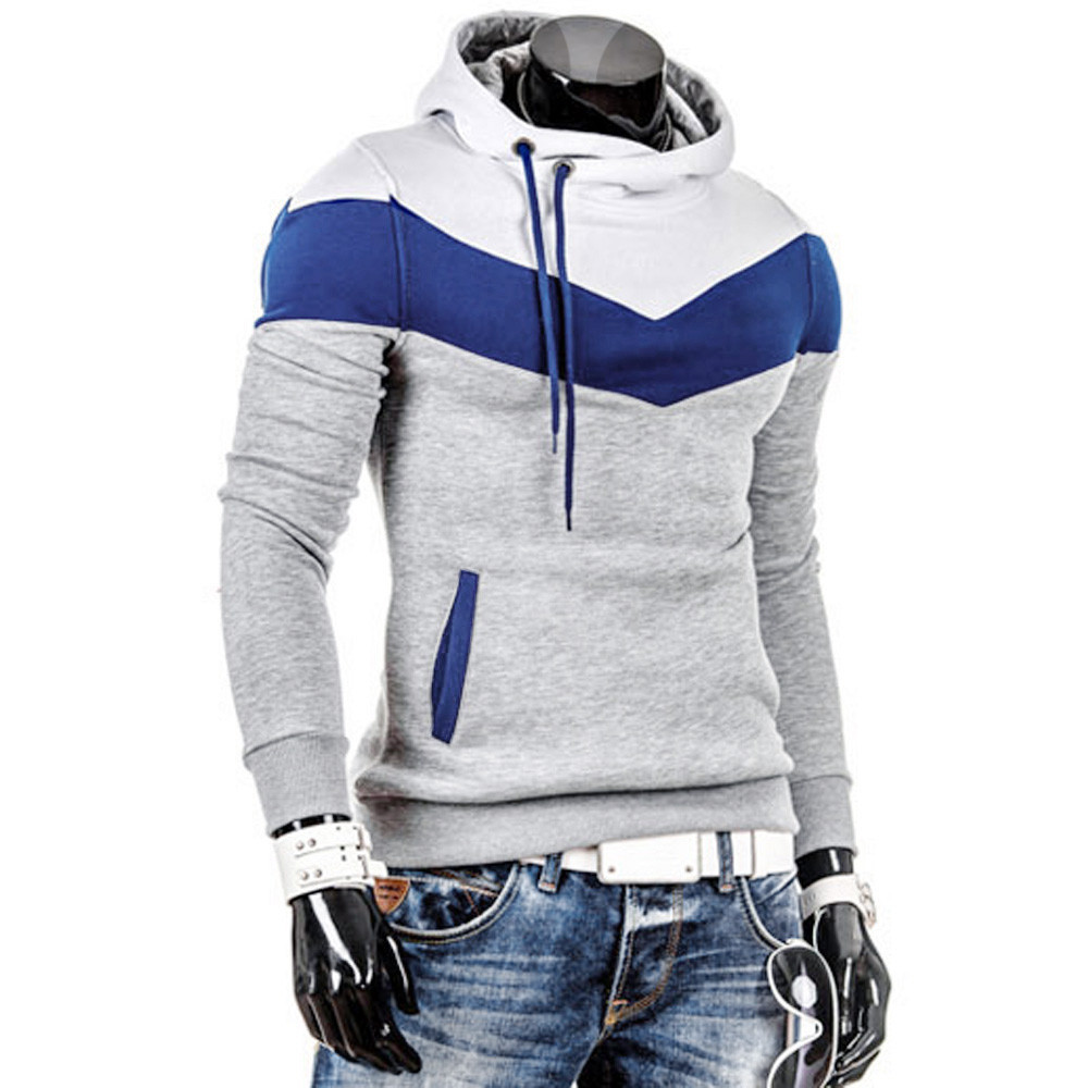 2020 Fashion Autumn Hoodies Men Sweatshirt Male Stitching Hooded Hip Hop Long Sleeve Sweatshirt Men Silm Hoodies Outwear 3XL