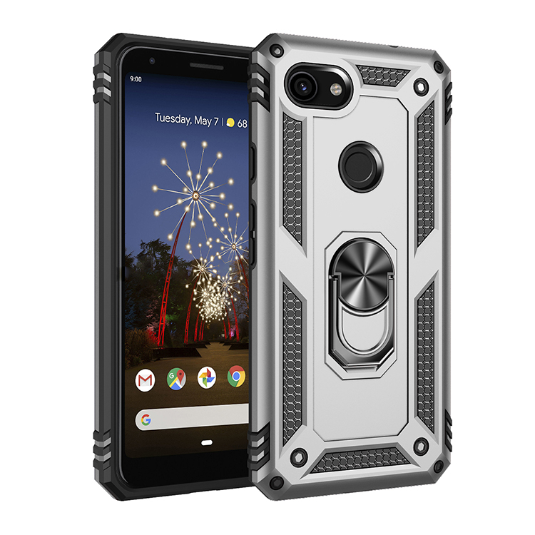 Shockproof Rugged Armor Case For Google Pixel 3A XL Finger Car Magnetic Ring Hard Holder Protective Phone Case Back Cover Coque