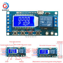 Micro USB Digital LCD Display Time Delay Relay Module DC 6-3