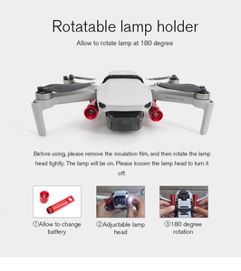 Image 4 - STARTRC DJI Mavic MINI drone Night Flight Searchlight Flashlight for dji mini 2 drone rc parts