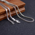 Pure Silver Weave Necklace 925 Sterling Thai Silver Fox Tail Chain Necklace Men Women Personalized Retro Necklace Male Jewelry