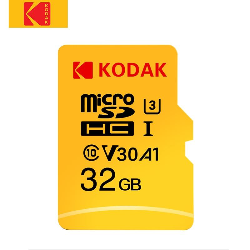 Kodak-carte Micro SD, 32 go/64 go/128 go/256 go/512 go, classe 10, U3, A1, V30, carte mémoire pour téléphone