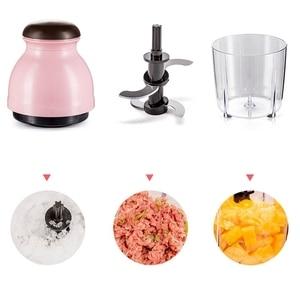 Image 5 - Blender Mini Electric Meat Grinder Food Processor Vegetable Fruit Blender Chopper 500Ml Kitchen Appliances Food Processor Mixer
