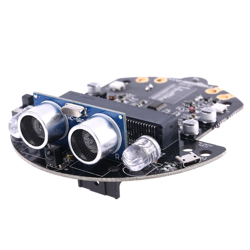 1Set Micro:bit Graphical Programming Robot Mobile Platform Smart Car V4.0 Support Line Patrol Ambient Light Accessories LX9B