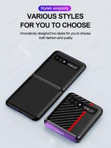 Image 4 - GRMAหรูหราของแท้หนังคาร์บอนไฟเบอร์สำหรับSamsung Galaxy Z FlipกรณีSM F7000 Galaxy Z Flip Aramidฝาครอบโทรศัพท์