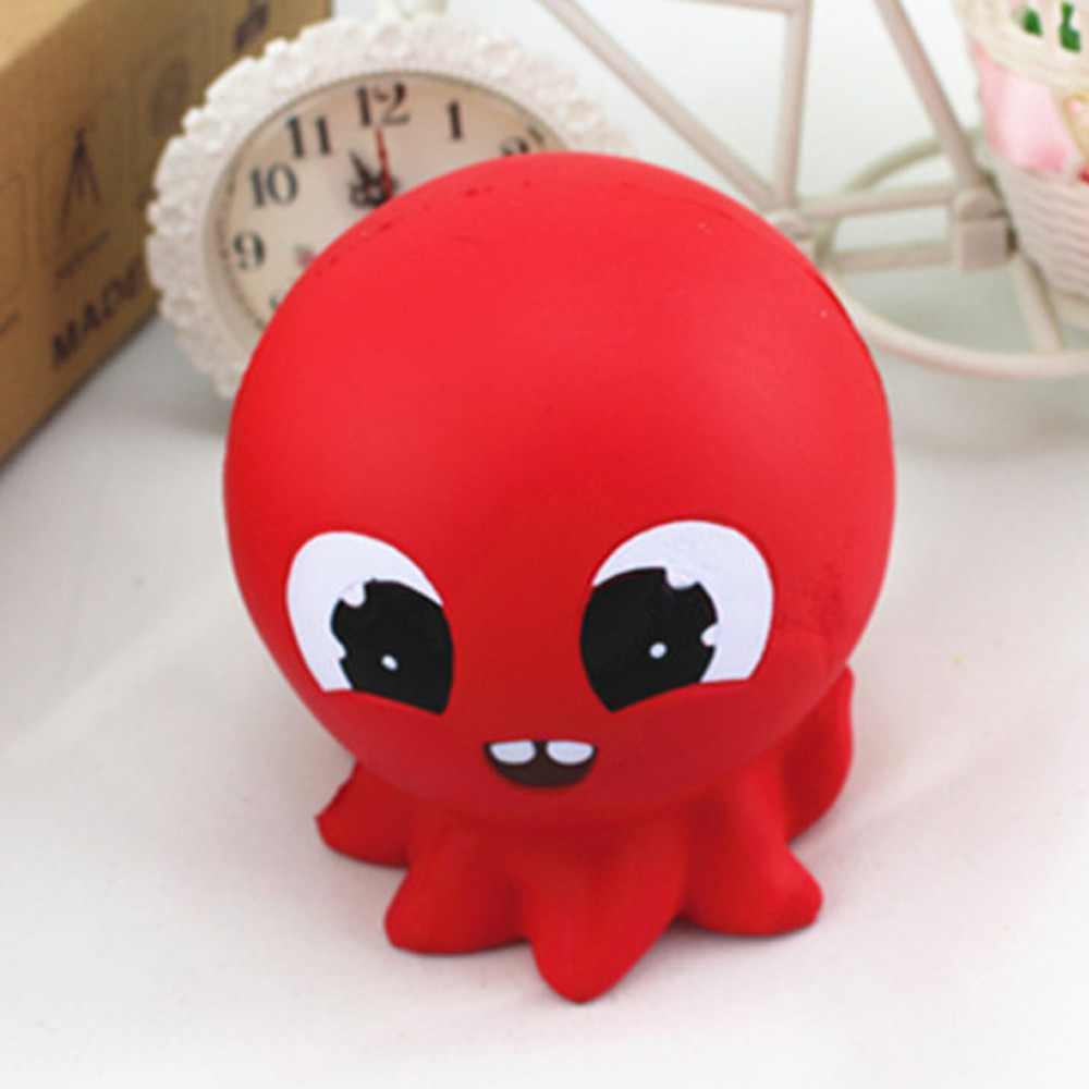 Toys For Children Squishy Red Octopus Bread Phone Straps Slow Rising Bun Charms Gifts Toys Kids Toys Juguetes Para Ninos