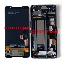 """6.0 """"Original Supor AMOLED M & Sen Für ASUS ROG Telefon ZS600KL LCD Display Bildschirm + Touch Panel Digitizer für Asus ZS600KL Rahmen"""