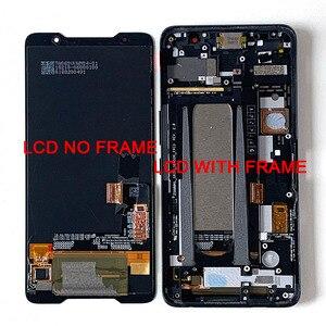 "Image 1 - 6.0 ""מקורי Supor AMOLED M & סן עבור ASUS ROG טלפון ZS600KL LCD תצוגת מסך + מגע פנל Digitizer עבור Asus ZS600KL מסגרת"