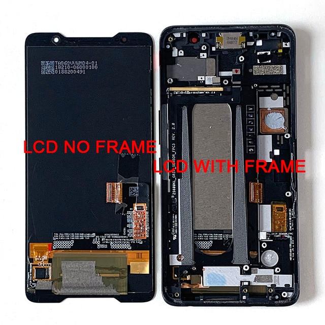 """6.0 """"מקורי Supor AMOLED M & סן עבור ASUS ROG טלפון ZS600KL LCD תצוגת מסך + מגע פנל Digitizer עבור Asus ZS600KL מסגרת"""
