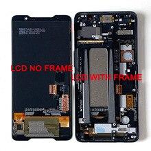 """6.0 """"oryginalny Supor AMOLED M & Sen dla ASUS ROG telefon ZS600KL wyświetlacz LCD ekran + Panel dotykowy Digitizer dla Asus ZS600KL rama"""