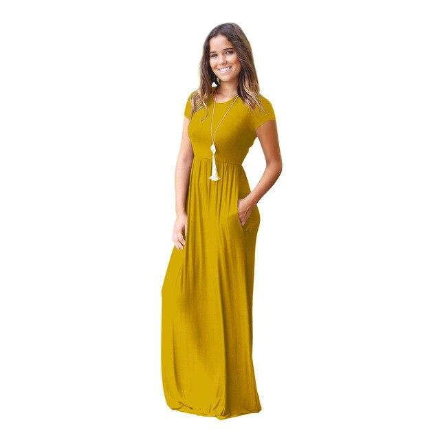 Pregnant Womens Nursing Solid Maternity Dress 1