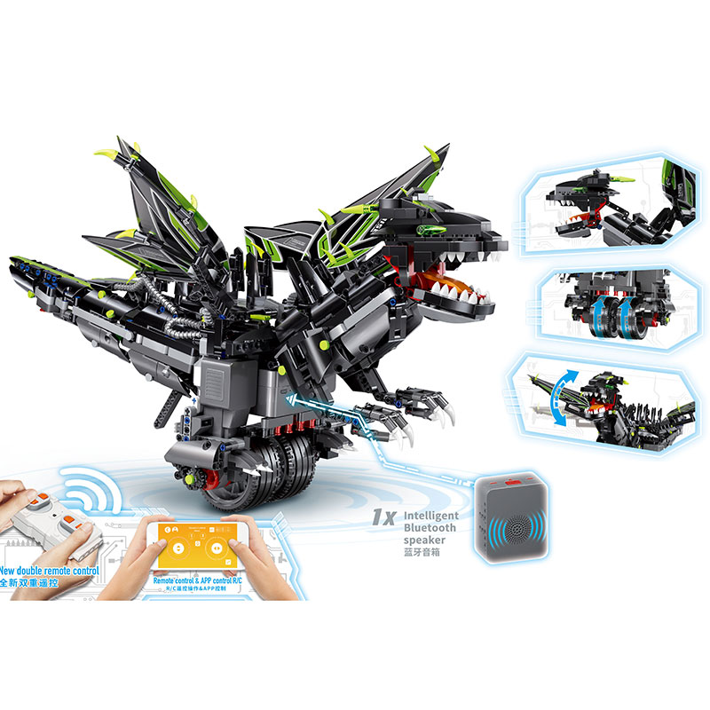 LP 06051 Yeshin 13029 App Voice Control Music Clone <font><b>70612</b></font> Mecha Dragon Set Building Blocks Bricks Programming legaoings Toys image