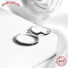 Женское кольцо в Корейском стиле pofunuo 925 пробы Серебряное