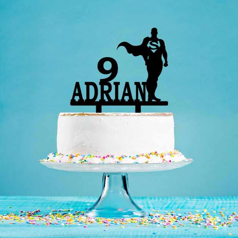 personalised name spiderman superhero Birthday Cake Topper hand crafted age