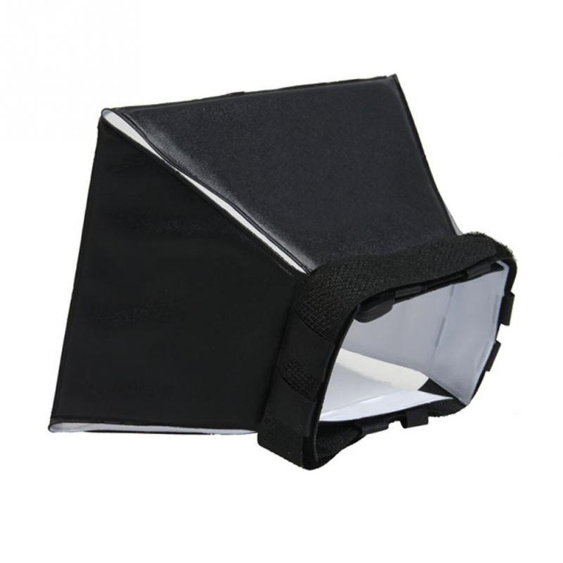 1pc Portable Omni Bounce Softbox Kit Photography Flash Diffuser for Canon Pentax DSLR Speedlite Flash Lamp Softbox Light Sphere in Camera Lens Hood from Consumer Electronics
